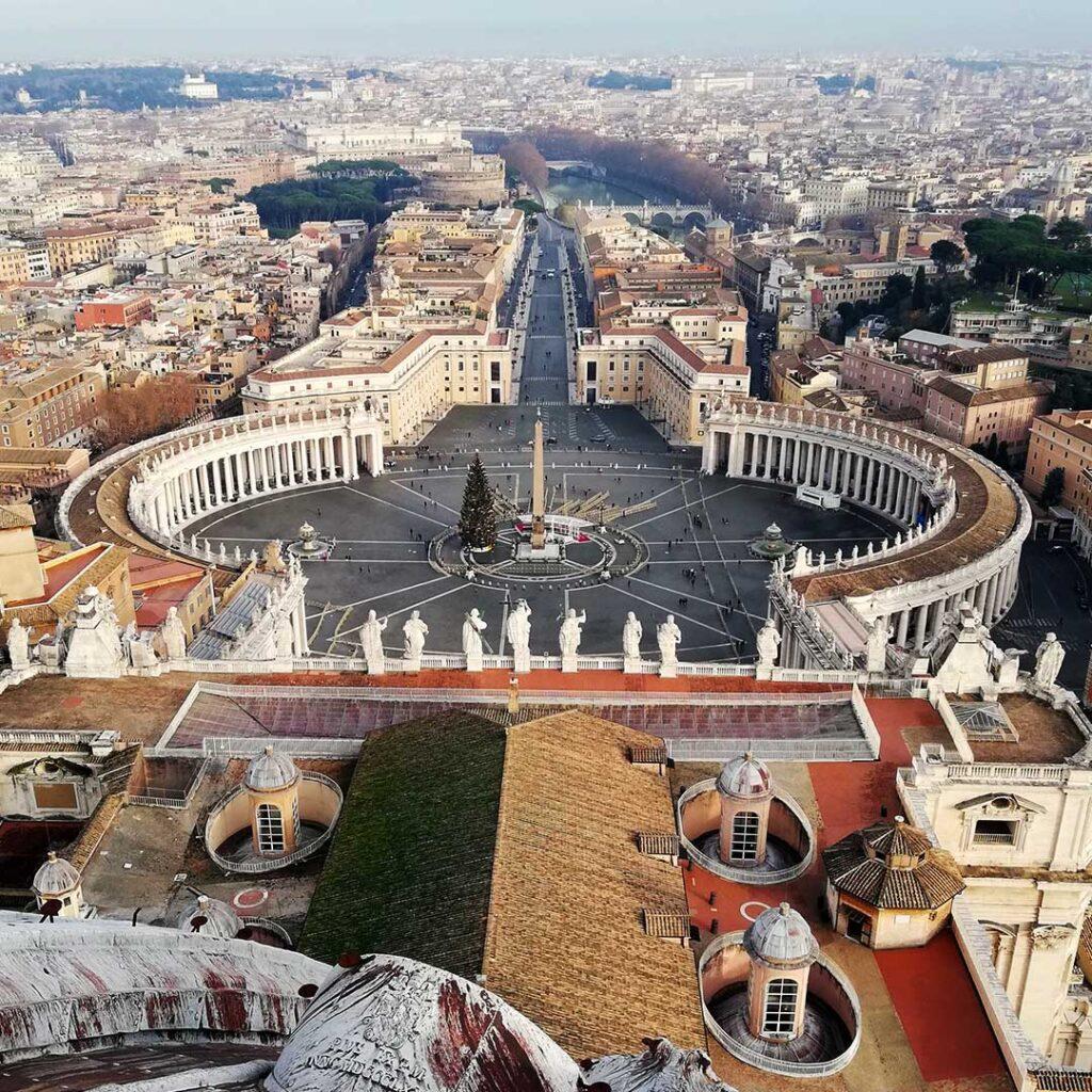 Il Vaticano visto dalla cupola